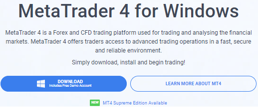 Metatrader 4 Download Button