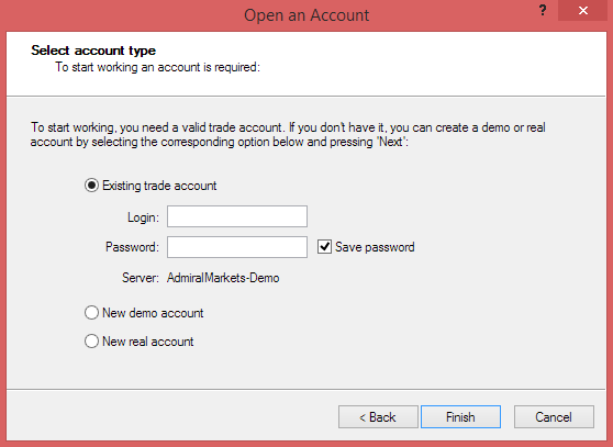 Demo Account Selection