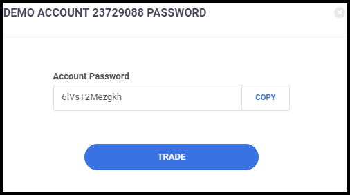 Trader's Room - Demo Account Password