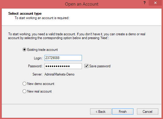 Demo Account Login Details