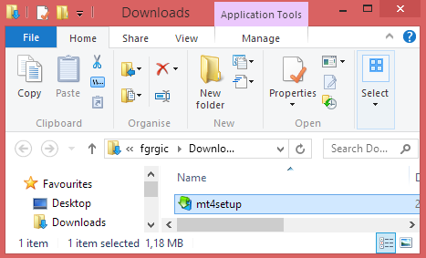 Download Folder - Start Installation Process