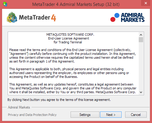 Installation Process - Accept Licence Agreement