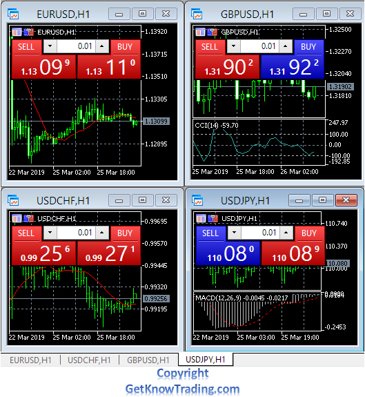 Metatrader 4  - Charts Overview