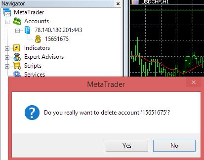 Confirm delete demo account
