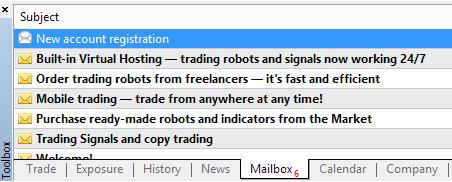Metatrader 4 demo account - account details message
