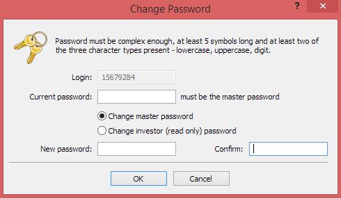 Metatrader 4 demo account - new password