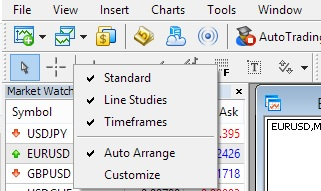 Metatrader Toolbar - Step to Customize