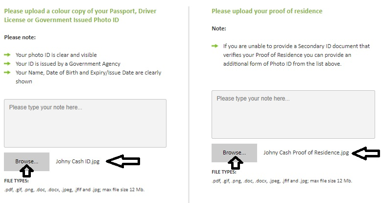 Upload Documents Details Status