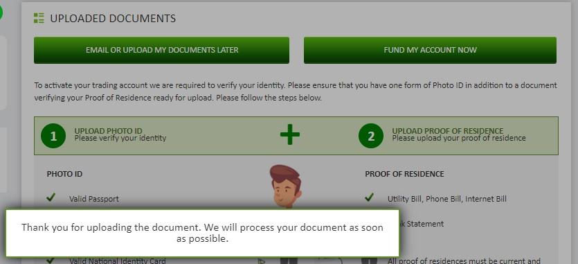 Document Upload Status