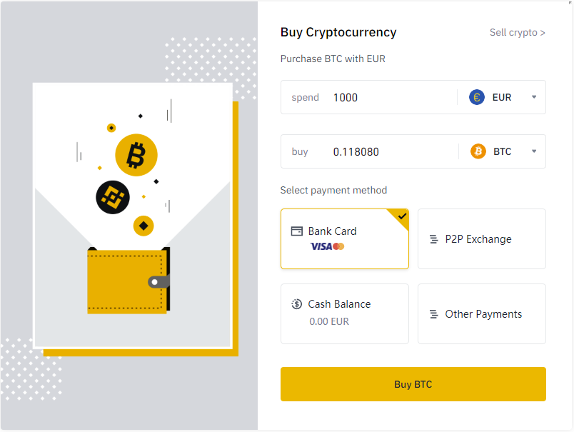 Binance - buy VeChain with Credit Card 1
