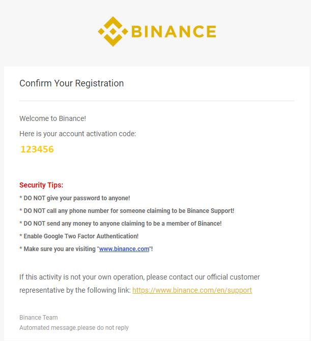 Binance - register page 5